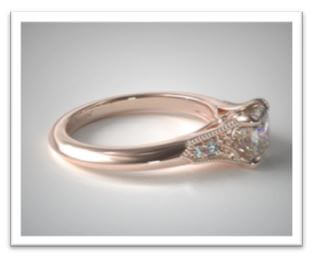 rose gold asscher cut engagement ring