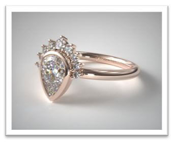 antique halo pear cut engagement ring