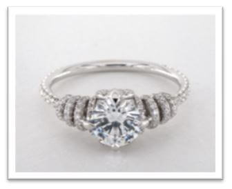 white gold engagement ring round