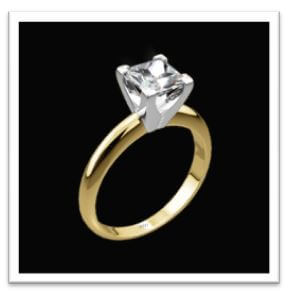 classic asscher cut engagement ring