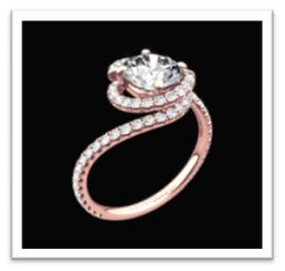 swirl engagement ring design