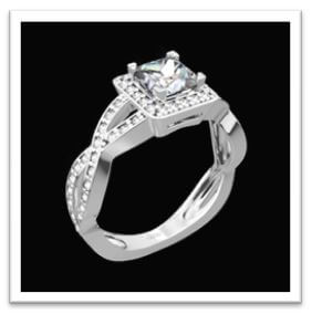 asscher cut engagement ring design