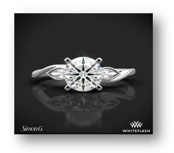 white gold pear cut engagement ring