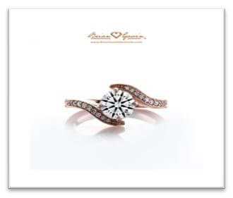 swirl round engagement ring