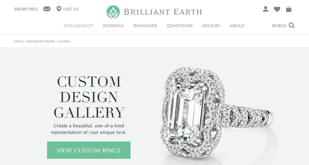 Brilliant Earth offer custom orders