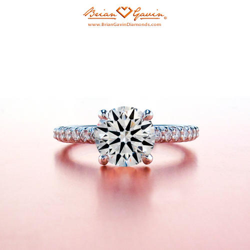 Ideal Cut Round Engagement Ring