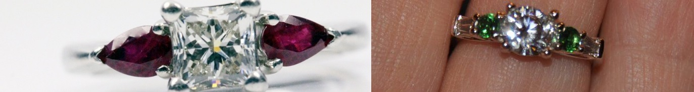 Colored Gemstones Engagement Rings