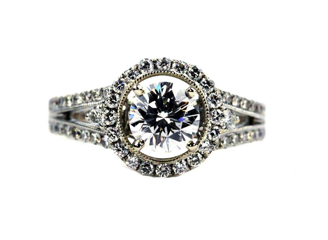 Top Halo Engagement Ring