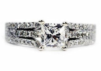 Unique Princess Cut Engagement Ring Setting