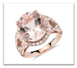rose gold engagement ring online