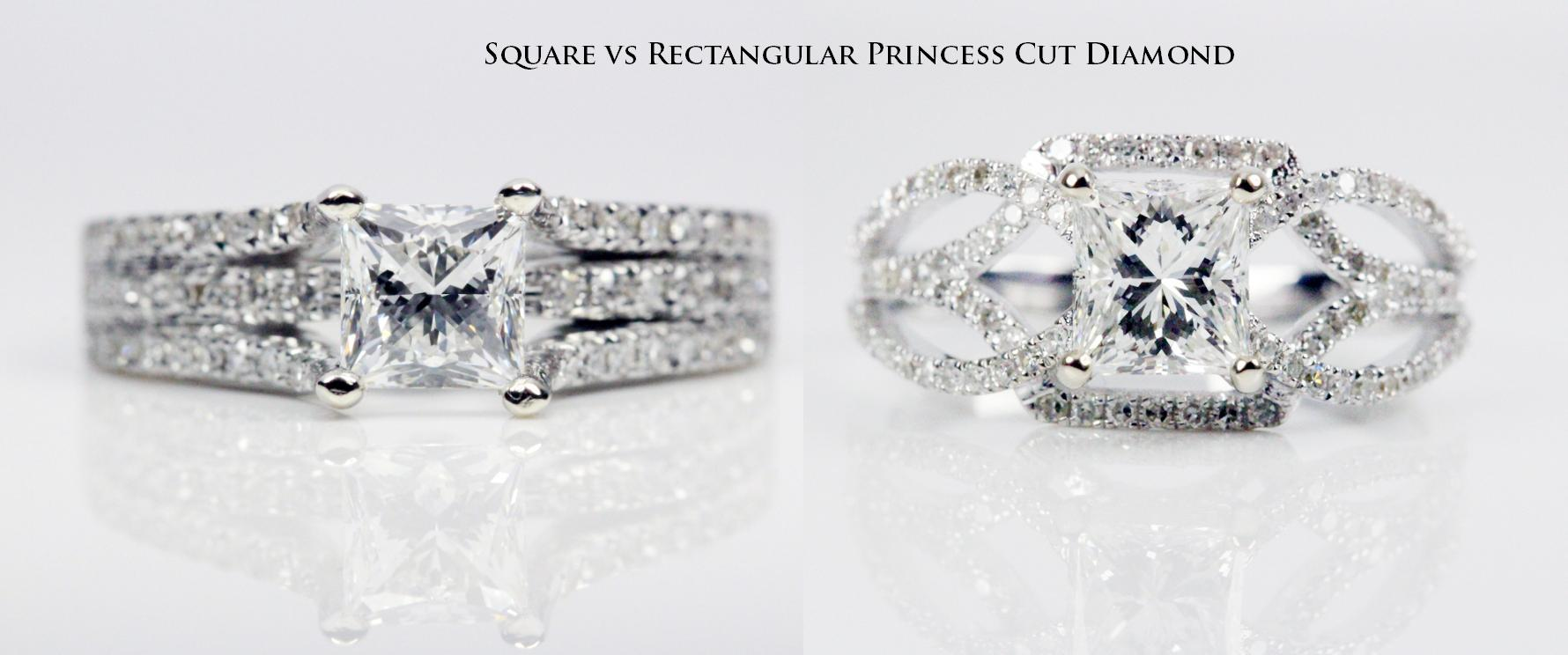 Princess cut diamonds assessment chart guide in depth information square vs rectangular princess cut diamond nvjuhfo Images