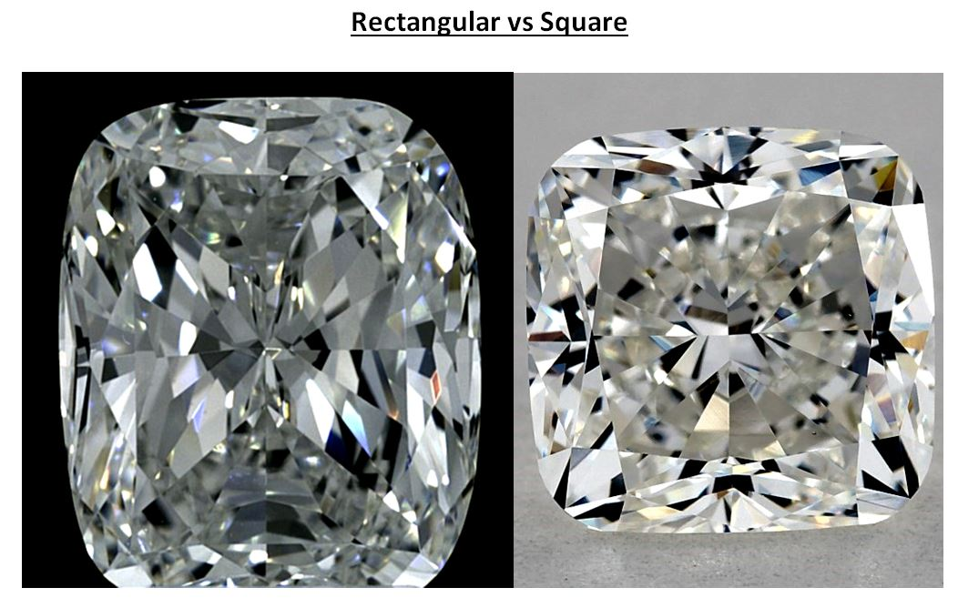 square vs rectangular cushion cut