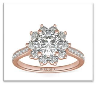 flower engagement ring design