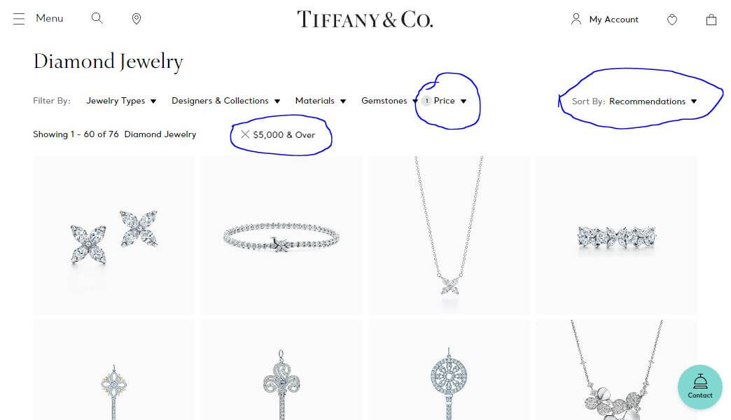 Tiffany & Co Pricing