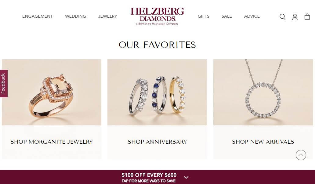 What Helzberg Diamonds Offer