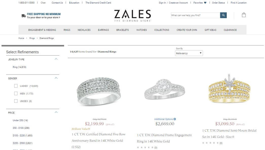 What Zales Jewelers Offer